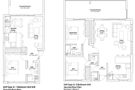 Floor Plans of Harmony Hall Green