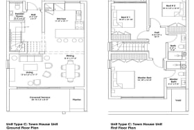 Floor Plans of Harmony Hall Green Townhouse