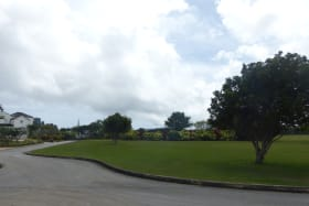 View from the lot towards the club house and Polo Field
