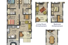 Floor plan with enhancements