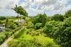 View from first floor overlooking additional lot for sale