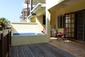 Additional deck and pool