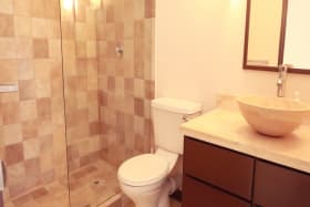 Recently upgraded apartment bathroom