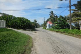 Main road into Atlantic Park facing west