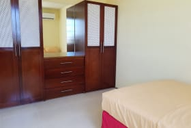 Bedroom with spacious cupboards