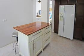 Kitchen with custom built island