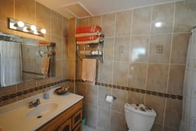 Ensuite bathroom to Bedroom one on ground floor