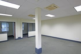 Open plan space and two private offices