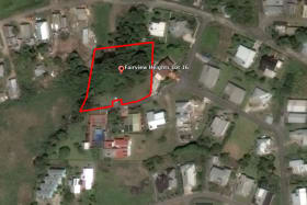 Aerial view of Lot outlined