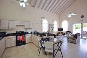 Open Plan Living and Kitchen at Little Bimshire with High Ceilings