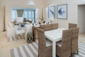 Open plan living and formal dining
