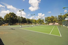 Two floodlit tennis courts at Millennium Heights