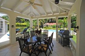 Poolside dining veranda