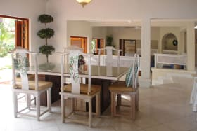Dining room situated just off the kitchen