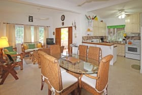 Spacious open plan dining, living and kitchen