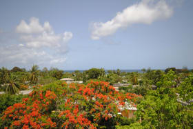 Sea and garden views from balcony