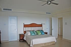 Master bedroom with view of the Caribbean Sea