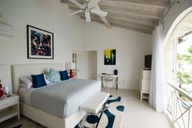 Master bedroom has wonderful lagoon and sea views