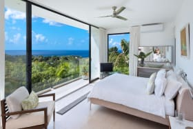 Master bedroom with sublime views of the West Coast