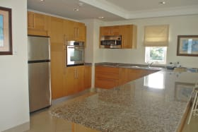 Kitchen - granite tops and stainless steel appliances