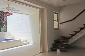 Staircase to living area