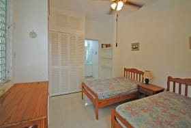Bedroom 3 with en suite bathroom off veranda