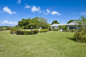 Spacious lawns very well landscaped