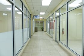 Spacious corridors and well lit