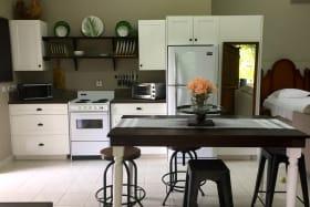 Open plan kitchen & dining