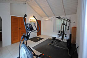 Gym set up in the cottage