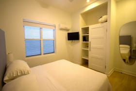 Decent size bedroom with fitted wardrobes