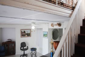 Spacious ground floor foyer and stairs to upper floor
