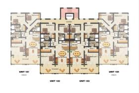 Floor Plans for Unit 101