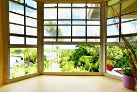 Bay window looking out to splendid country views