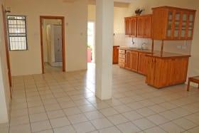Open plan kitchen/living room & Bathroom