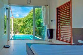 Bedroom onto pool