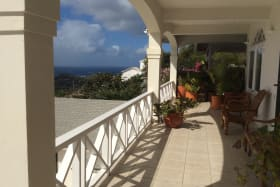 Upstairs Patio with Caribbean Sea Views