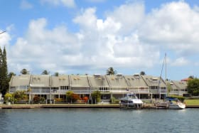 East Caribbean Village over the Marina