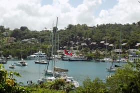 View out to Marigot Bay