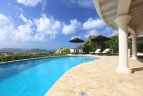Pool Area & View of Rodney Bay & Pigeon Island