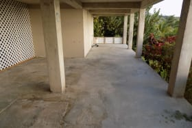 Covered Paved Area beneath Villa