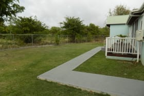 Flat backyard area