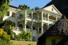 Villa with Gros Piton in the Background