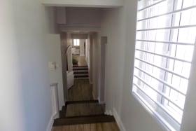 Hallway with Wood-look Tile