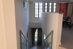 Staircase to lower suite
