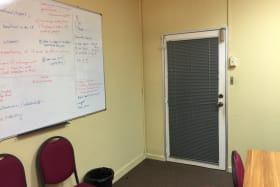 different view of the meeting room - door leading to common corridor