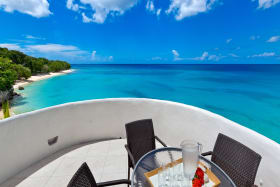 Roof top terrace with stunning views of the sea and beach