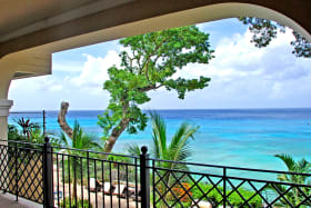 View of the Caribbean sea