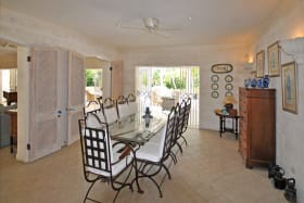 Gracious Dining Room Leads to Terrace