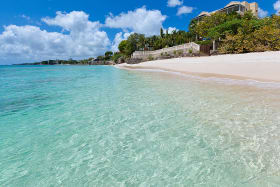 White sandy beach and excellent swimming